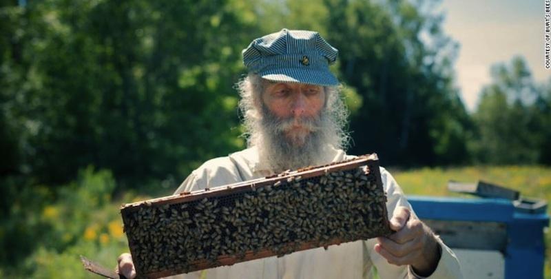 Burt Shavitz with bees