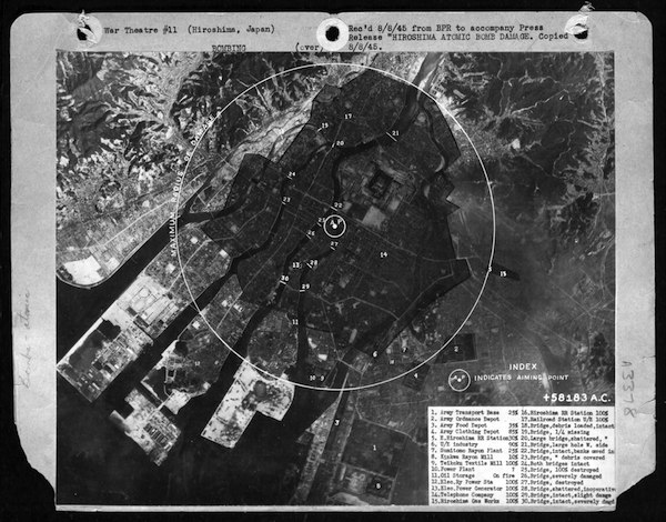 Hiroshima Map Atomic Bombing