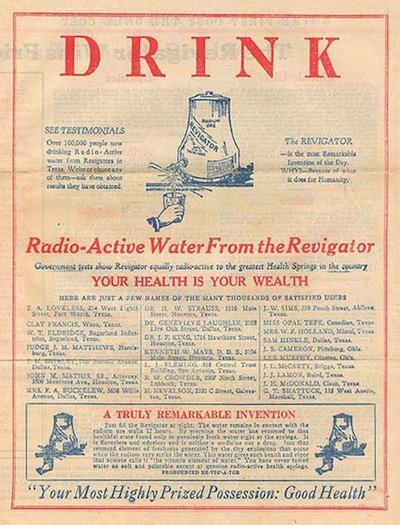 Drink Radiactive Water