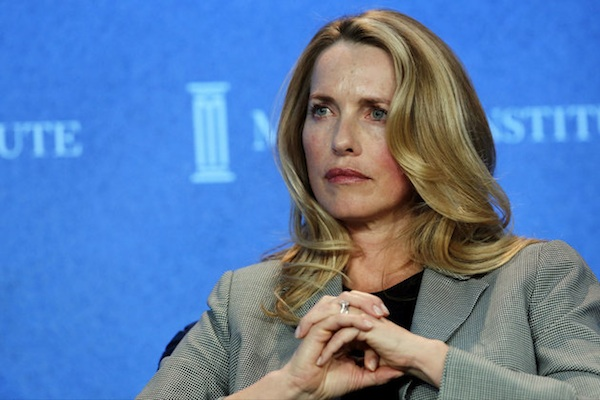 Laurene Powell Jobs, Founder and Chair, Emerson Collective, and widow of Apple founder Steve Jobs, speaks at the annual Milken Institute Global Conference in Beverly Hills, California, U.S., on Monday, April 29, 2013. The Global Conference convenes chief executive officers, senior government officials and leading figures in the global capital markets to explore solutions to today's most pressing challenges in business, health, government and education. Photographer: Patrick T. Fallon/Bloomberg