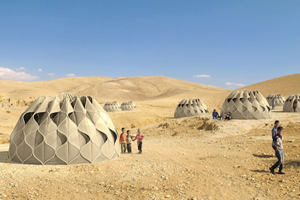 Prototype Solar Tent designed by Abeer Seikaly