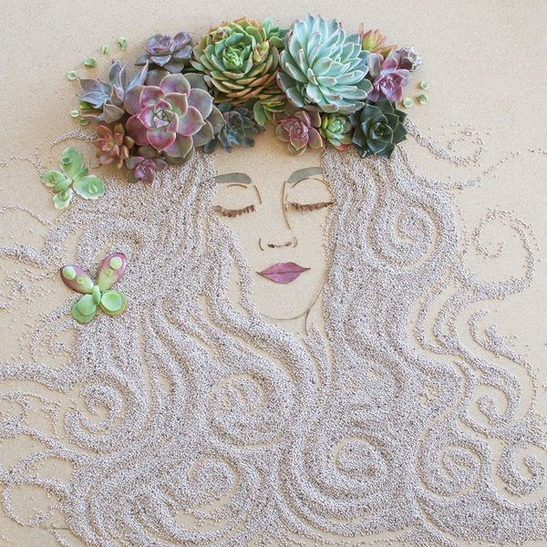 flowerart-succulentfairy-women-of-green
